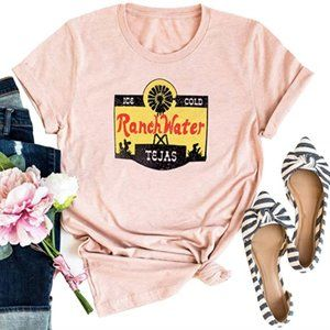 Ranch Water Country Western Pink Graphic Tee